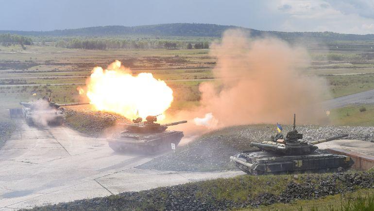 Участники международных соревнований Strong Europe Tank Challenge. Фото AFP