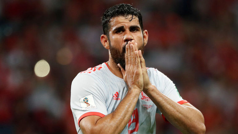 Пятница. Сочи. Португалия - Испания - 3:3. ДИЕГУ КОСТА. Фото AFP