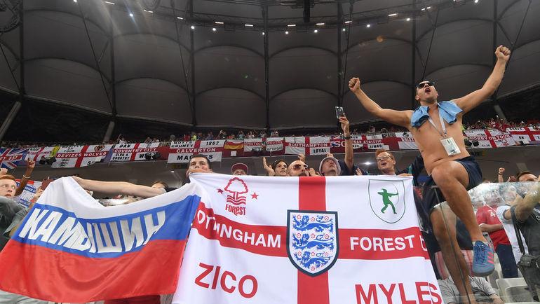"""18 июня. Волгоград. Тунис - Англия - 1:2. Британские болельщики на игре. Фото Дарья ИСАЕВА, """"СЭ"""""""