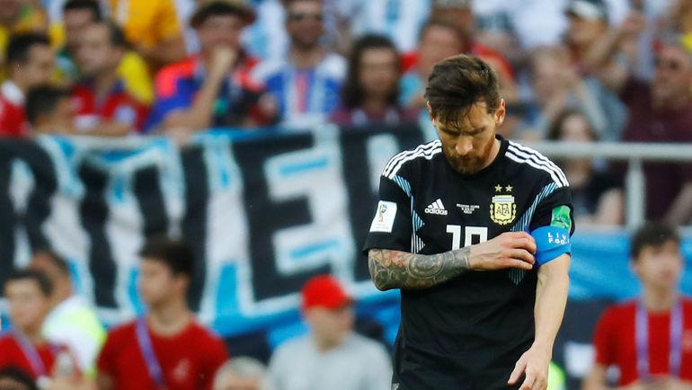 16 июня. Москва. Тушино. Аргентина - Исландия - 1:1. Лионель МЕССИ: опустошение. Фото REUTERS