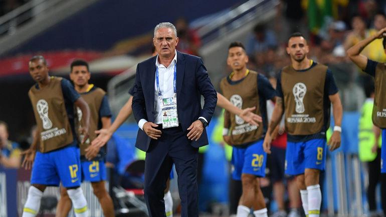 """Среда. Москва. Сербия - Бразилия - 0:2. ТИТЕ. Фото Александр ФЕДОРОВ, """"СЭ"""""""
