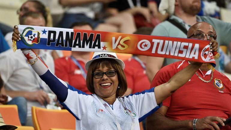 Четверг. Саранск. Панама - Тунис - 1:2. Болельщица сборной Панамы. Фото AFP