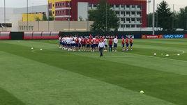 Сборная России провел заключительную тренировку перед матчем с Испанией