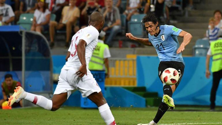Суббота. Сочи. Уругвай - Португалия - 2:1. Эдинсон КАВАНИ забивает победный гол. Фото AFP