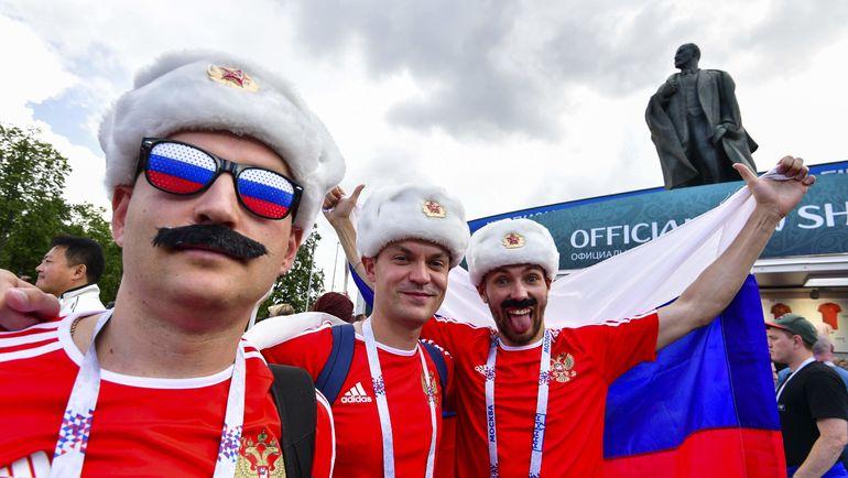 Лужники за час с небольшим до матча России с Испанией. Фото AFP