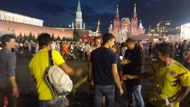 Красная площадь после матча России с Испанией