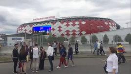 Москва перед матчем Колумбия - Англия