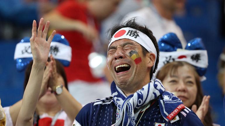 2 июля. Ростов-на-Дону. Бельгия - Япония - 3:2. Болельщик сборной Японии. Фото REUTERS