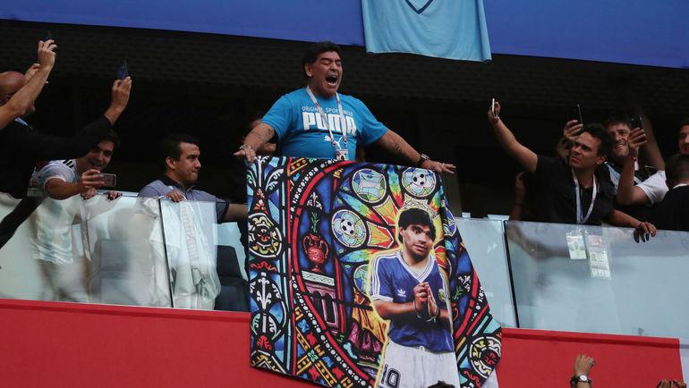 26 июня. Санкт-Петербург. Нигерия - Аргентина - 1:2. Диего МАРАДОНА. Фото REUTERS