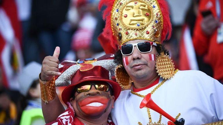 Болельщики сборной Перу. Фото AFP