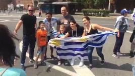 Болельщики сборной Уругвая пользуются популярностью у россиян