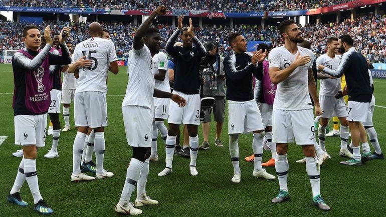 Пятница. Нижний Новгород. Уругвай - Франция - 0:2. Сборная Франции - в полуфинале ЧМ-2018. Фото AFP