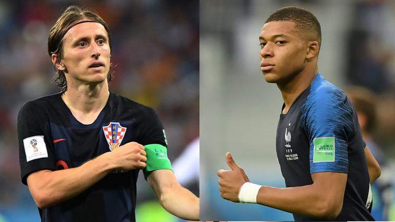 Лука МОДРИЧ (слева) или Кильян МБАППЕ? Кто станет лучшим игроком чемпионата мира?