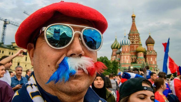 Болельщики сборной Франции в Москве.