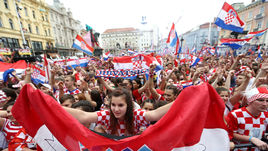 Загреб встретил сборную Хорватии. На улицы вышли все