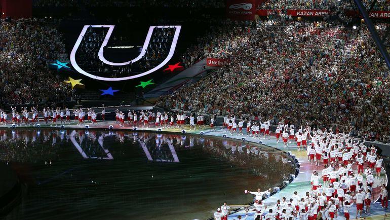 7 июля 2013 года. Казань. Церемония открытия Универсиады. Фото AFP