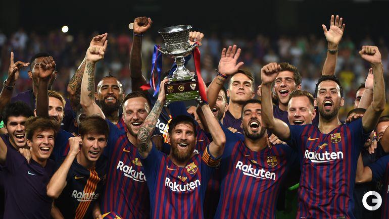 """12 августа. Танжер. """"Барселона"""" - """"Севилья"""" - 2:1. """"Барселона"""" завоевала Суперкубок в 13-й раз в истории."""