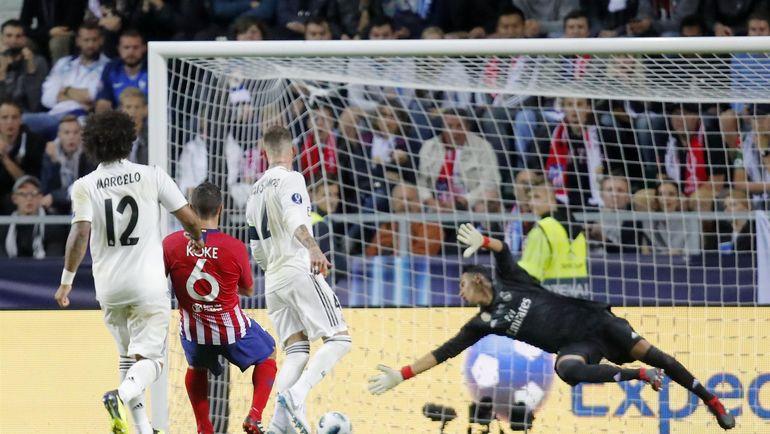 "Гол КОКЕ в ворота ""Реала"". Фото REUTERS., REUTERS"