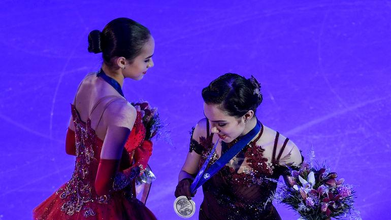 """Алина ЗАГИТОВА и Евгения МЕДВЕДЕВА. Фото Дарья ИСАЕВА, """"СЭ"""""""