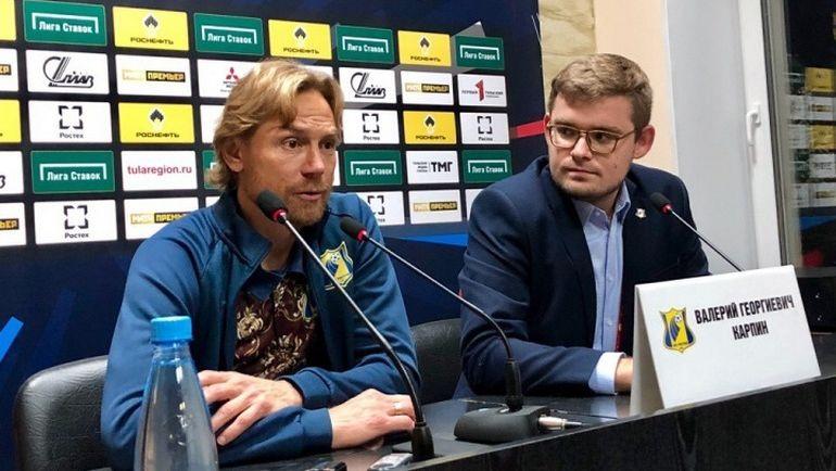 Валерий КАРПИН после матча в Туле. В той самой майке-ковре. Фото fc-rostov.ru