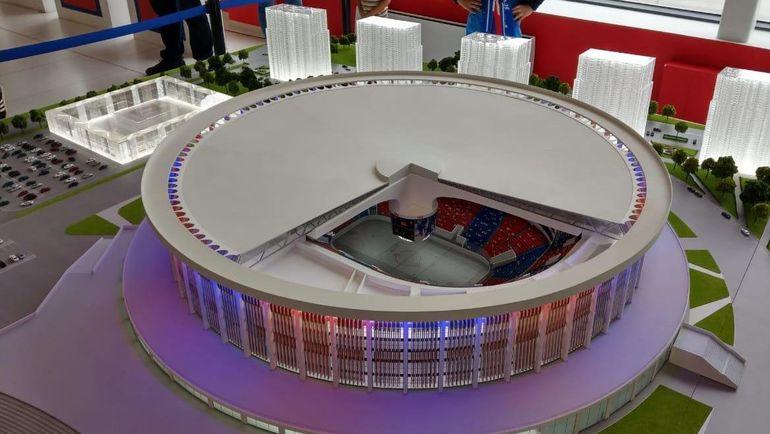 """Проект нового стадиона СКА - самого большого в мире. Фото Игорь ЕРОНКО, """"СЭ"""""""