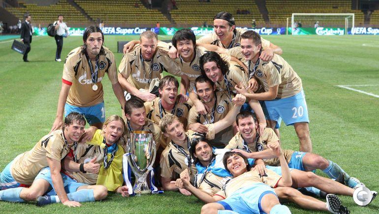 """29 августа 2008 года. Монако. """"Манчестер Юнайтед"""" - """"Зенит"""" - 1:2. Обладатели Суперкубка УЕФА."""