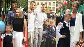 Звездная линейка. Еременко, Комбаровы и Барановская отвели детей в школу