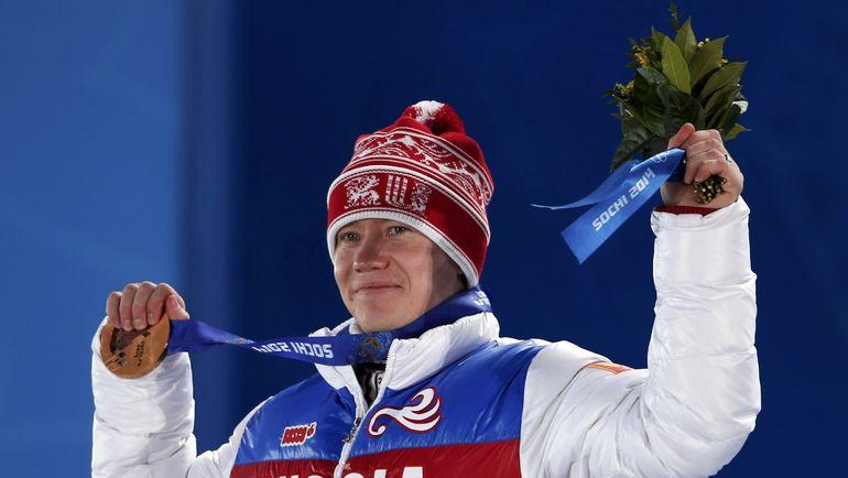 Бронзовый призер Олимпиады-2014 в Сочи Александр СМЫШЛЯЕВ. Фото AFP