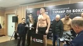 Лебедев показал на весах 96,5 кг, Алтункая - 94,1 кг