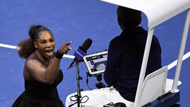 Как Серена Уильямс скандалила в финале US Open