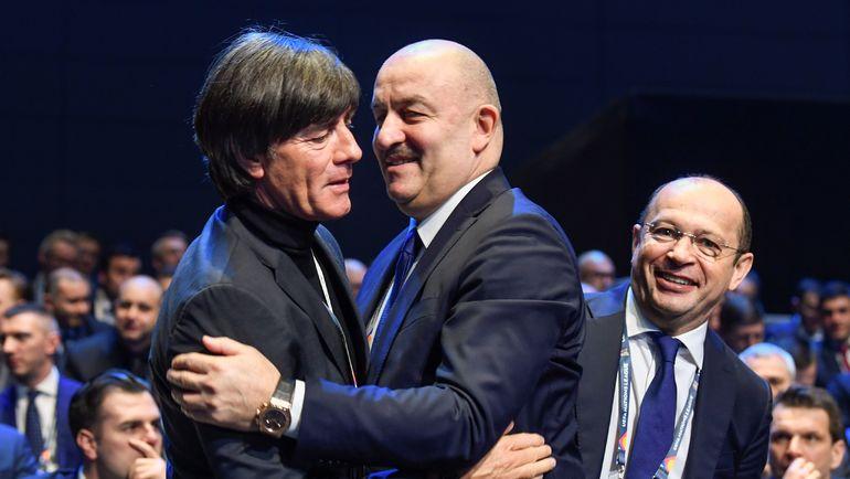 Станислав Черчесов и Йоахим Лев. Фото AFP