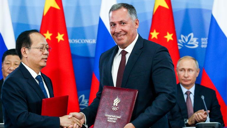 Гоу Чжунвен и Станислав Поздняков. Фото Александр Рюмин, ТАСС