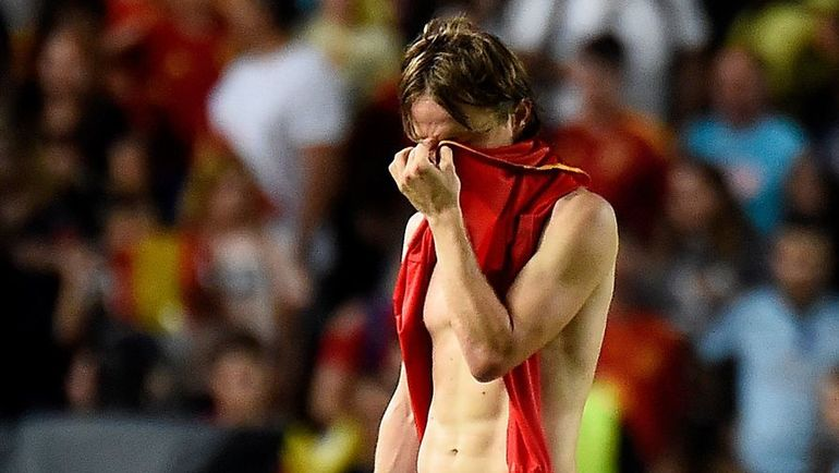 11 сентября. Эльче. Испания - Хорватия - 6:0. Капитан хорватов Лука Модрич. Фото AFP