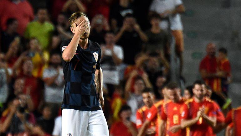 11 сентября. Эльче. Испания - Хорватия - 6:0. Иван Ракитич. Фото AFP
