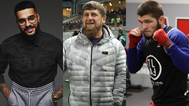 Тимати, Рамзан Кадыров, Хабиб Нурмагомедов.