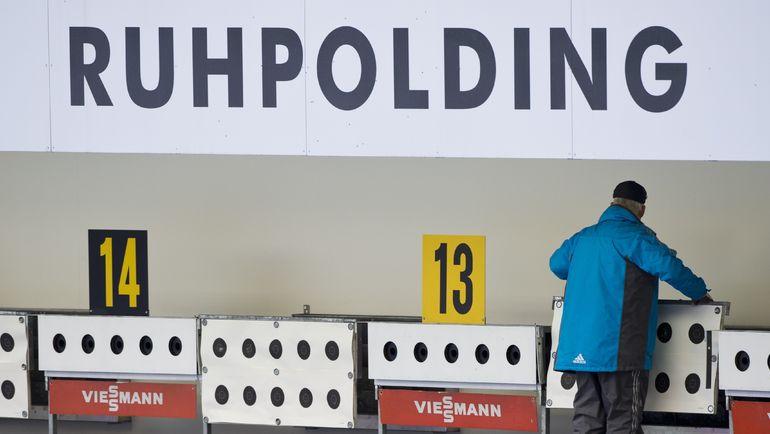 Подготовка мишеней к гонке. Фото AFP