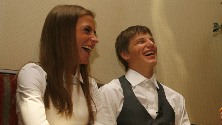 Юлия Барановская и Андрей Аршавин. Фото AFP