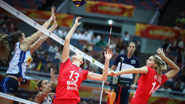 Россиянки проиграли Италии на чемпионате мира. Фото fivb.org