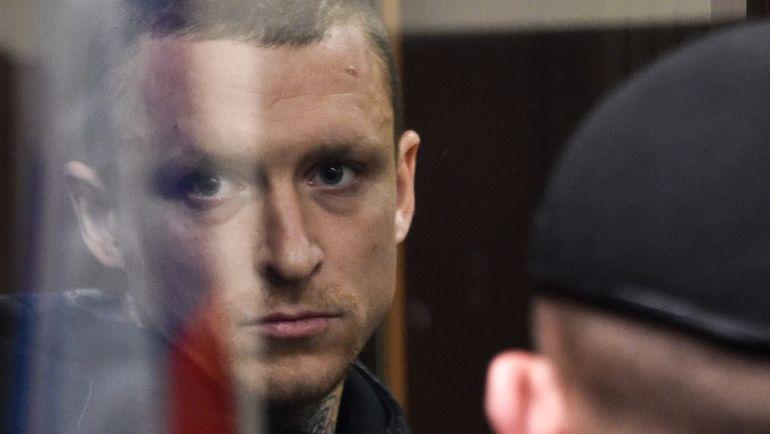11 октября. Москва. Павел Мамаев во время заседания суда по своему делу. Фото AFP