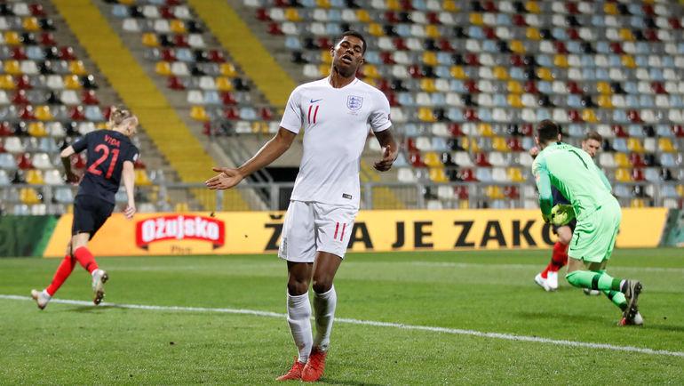 12 октября. Риека. Хорватия - Англия - 0:0. Маркус Рэшфорд. Фото REUTERS