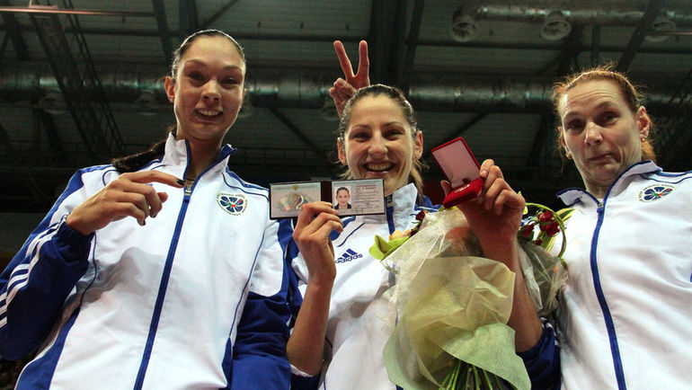 2011 год. Екатерина Гамова, Татьяна Кошелева и Елена Пономарева (слева направо). Фото Александр Волгин