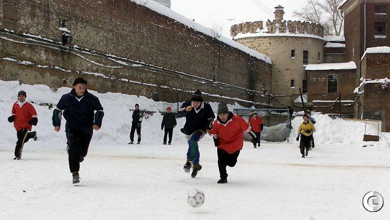 28 февраля 2001 года. Бутырский следственный изолятор. Футбольный матч между заключенными и администрацией тюрьмы.