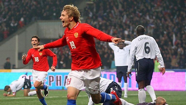 17 октября 2007 года. Москва. Россия - Англия - 2:1. Роман Павлюченко.
