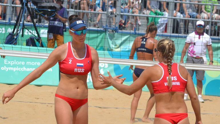 Мария Бочарова и Мария Воронина. Фото twitter.com/FIVBVolleyball