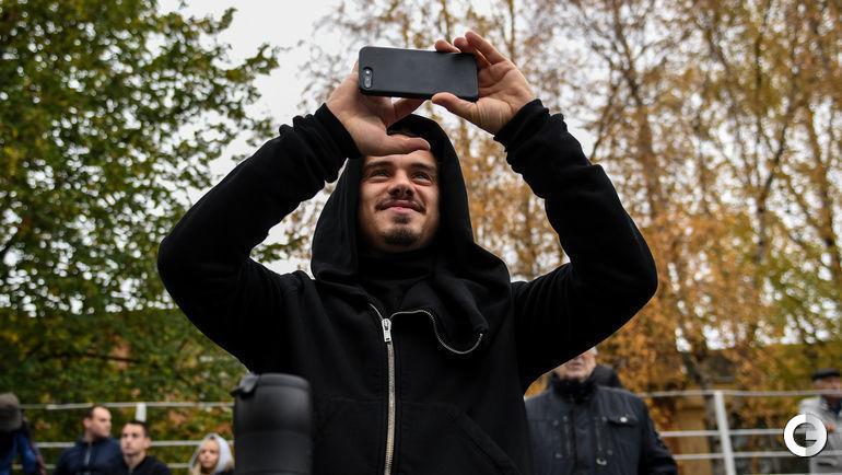 "21 октября. Москва. ""Армейцы"" - ""Спартак"" - 41:0. Андрей Ещенко."
