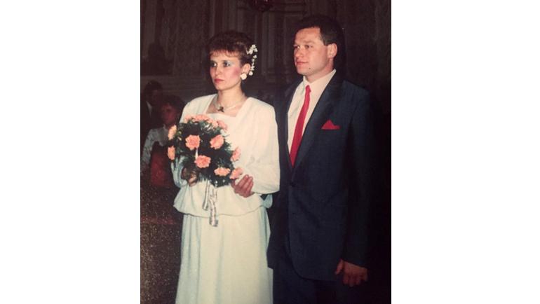 1990 год. Свадьба Натальи Долгополовой и Владимира Долгополова. Фото Из личного архива Дарьи Долгополовой