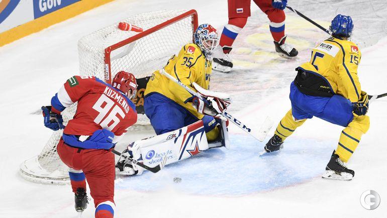 10 ноября. Хельсинки. Швеция - Россия - 1:4. Андрей Кузьменко записал на свой счет две шайбы.