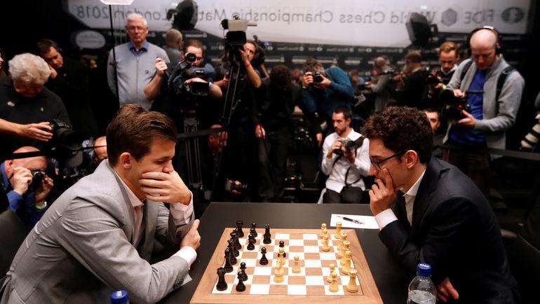 Магнус Карлсен и Фабиано Каруана. Фото REUTERS