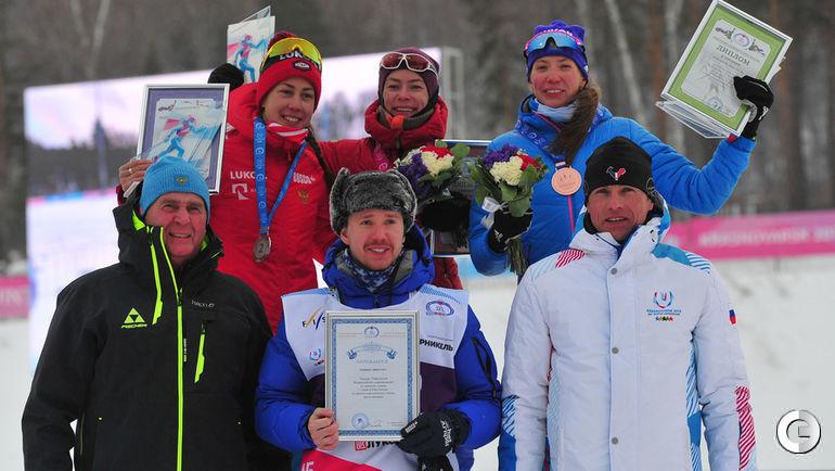1 декабря. Красноярск. Кристина Мацокина (серебро), Ольга Царева (победитель), Анастасия Власова.