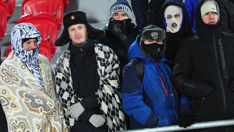 """Енисей"" – ""Ахмат"": замерзший футбол"